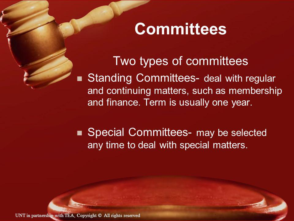 Two types of committees