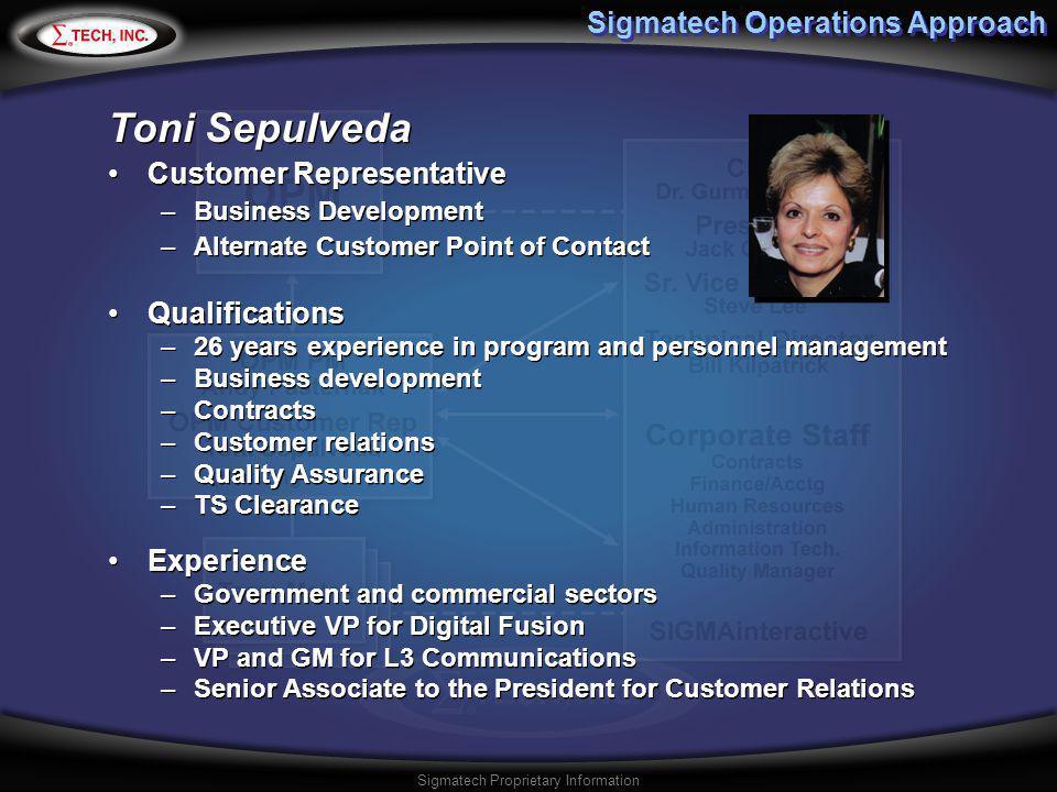 Sigmatech Operations Approach