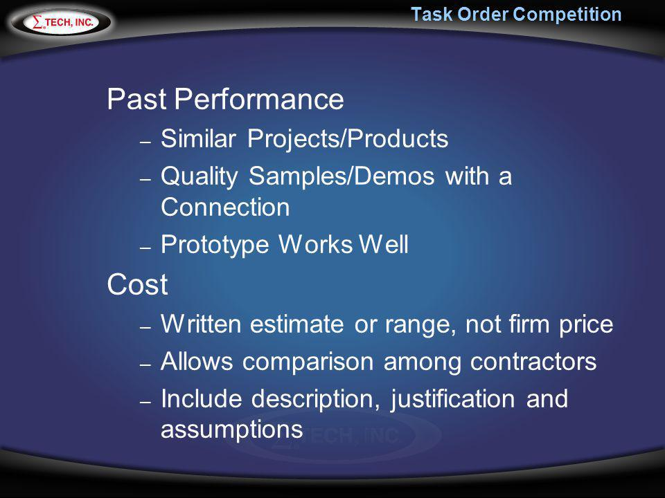 Task Order Competition