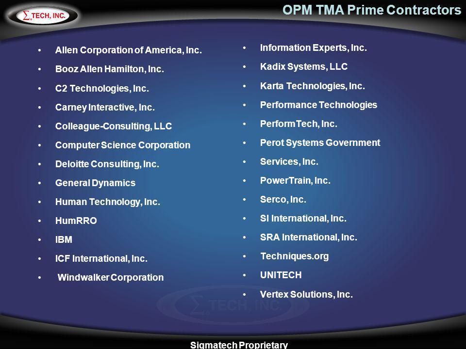 OPM TMA Prime Contractors
