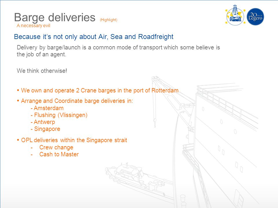 Barge deliveries (Highlight)
