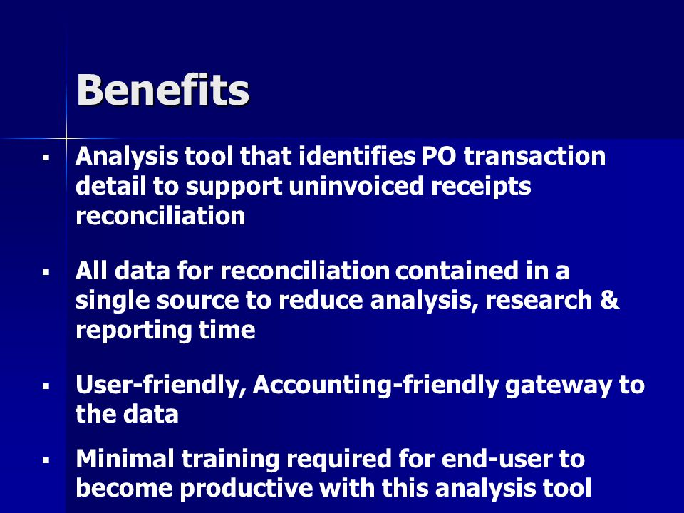 Uninvoiced Receipts Analysis