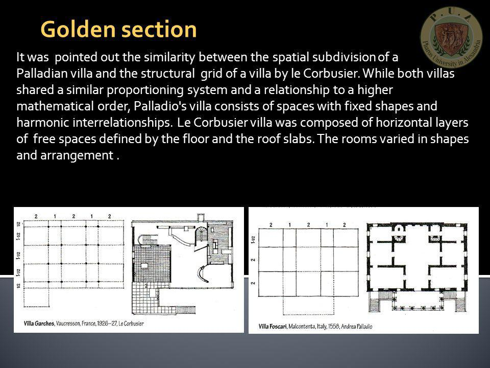 Golden section It was pointed out the similarity between the spatial subdivision of a.