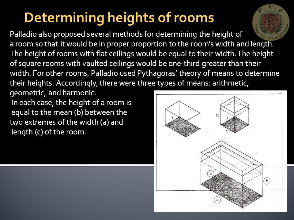 Determining heights of rooms