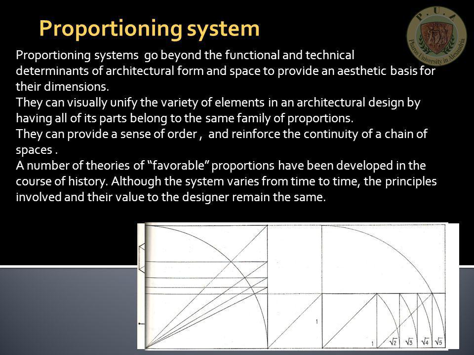 Proportioning system Proportioning systems go beyond the functional and technical.