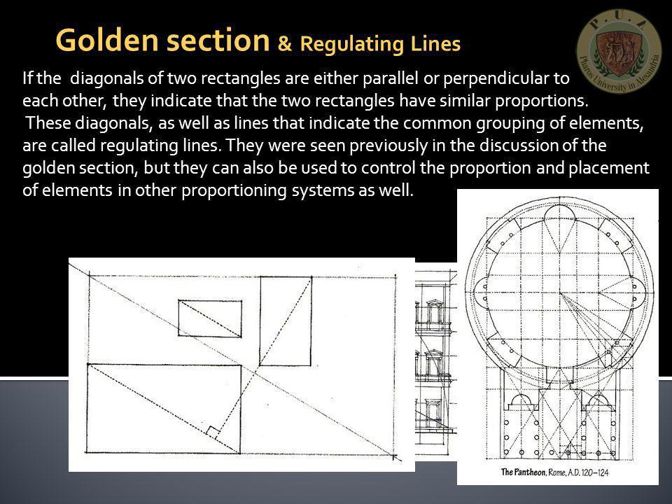 Golden section & Regulating Lines