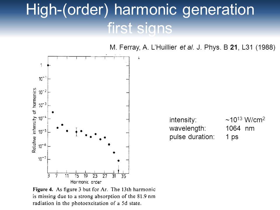 High-(order) harmonic generation
