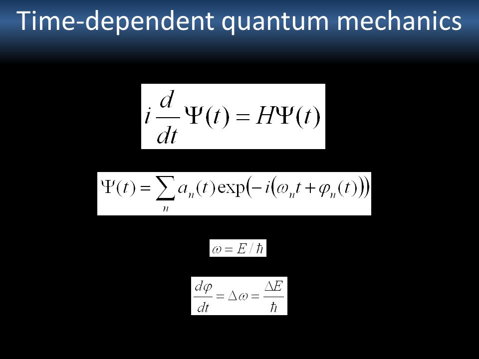 Time-dependent quantum mechanics