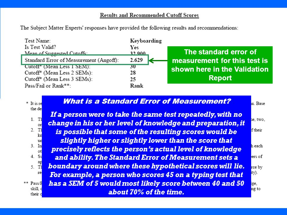 What is a Standard Error of Measurement