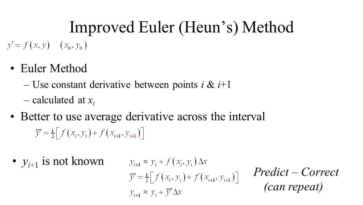 Improved Euler (Heun's) Method