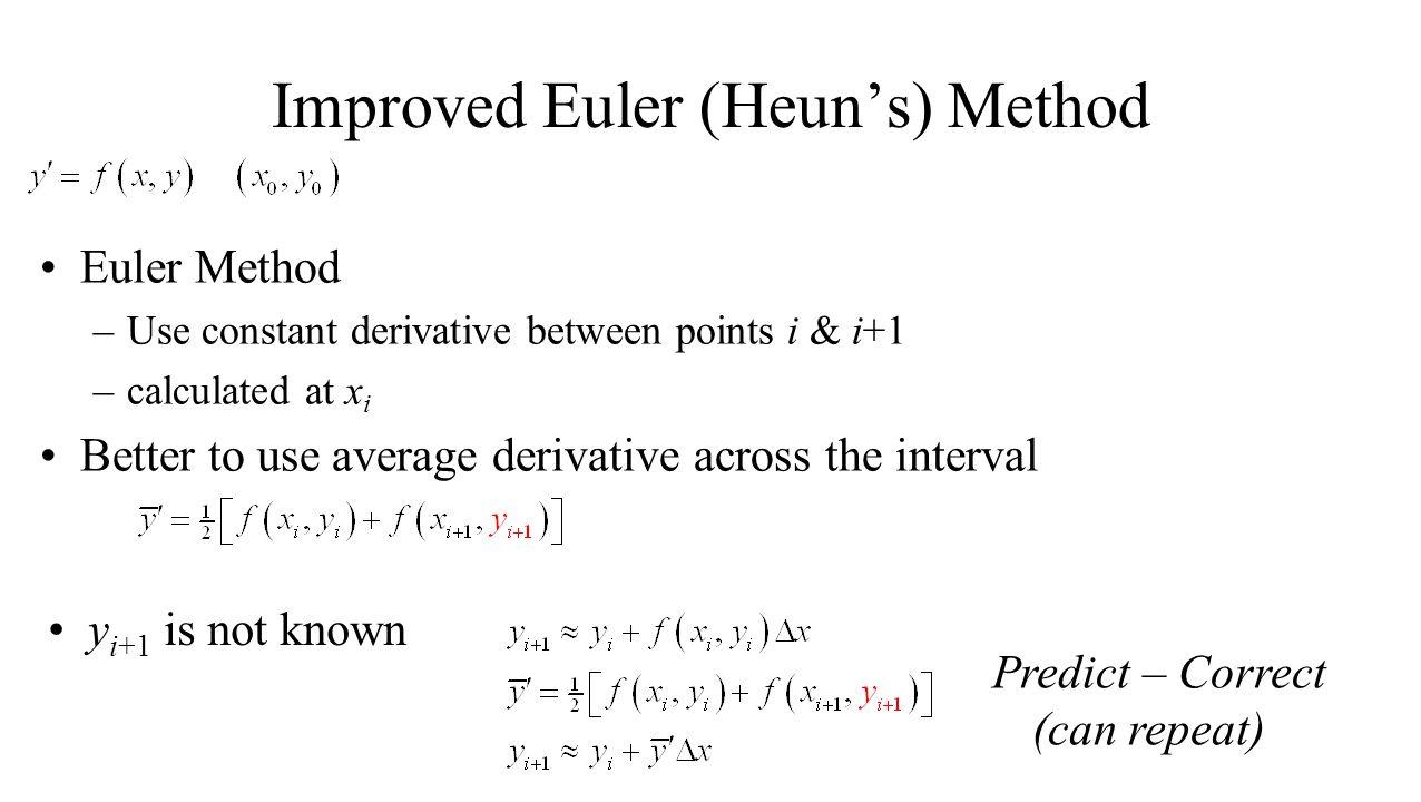 Improved Euler (Heun's) Method