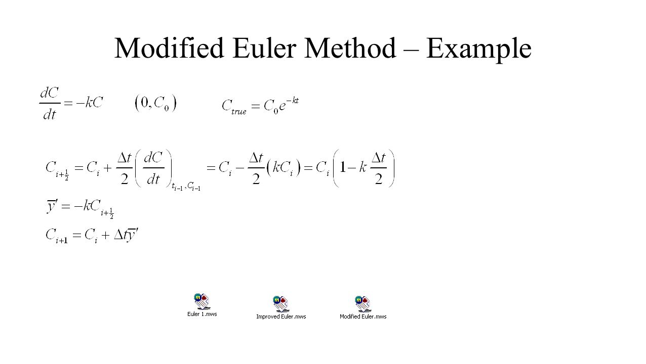 Modified Euler Method – Example