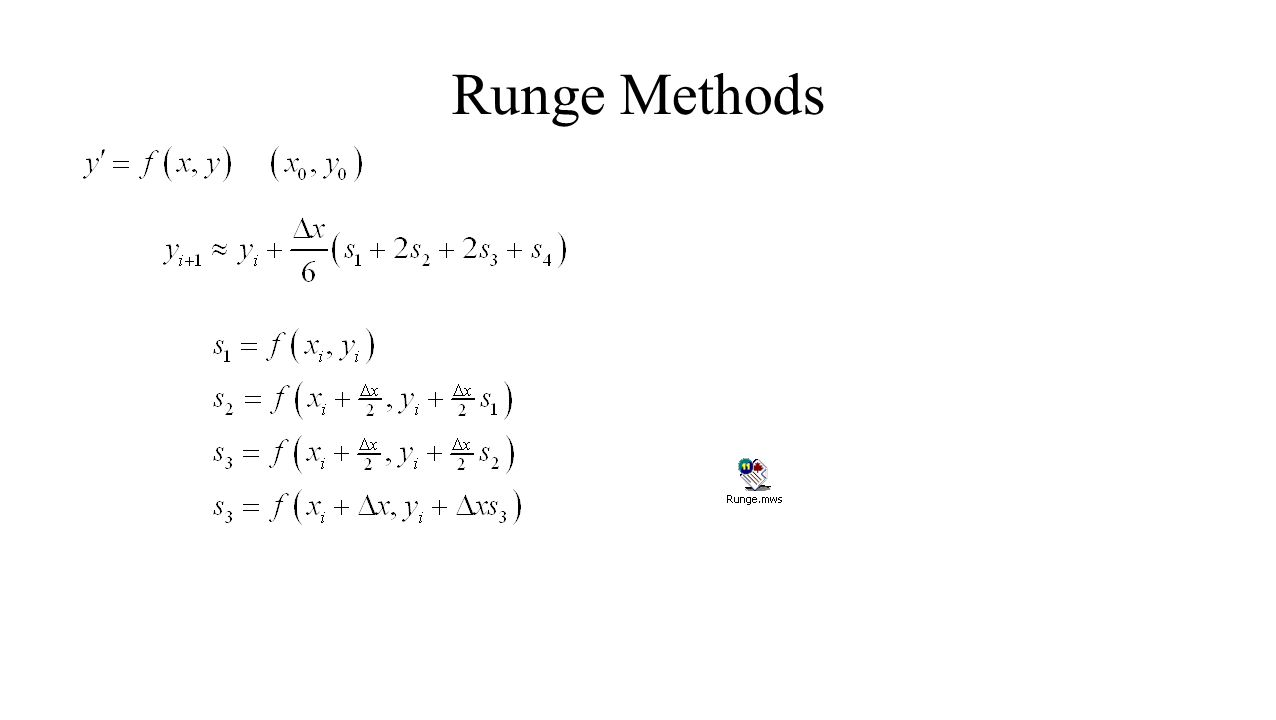Runge Methods