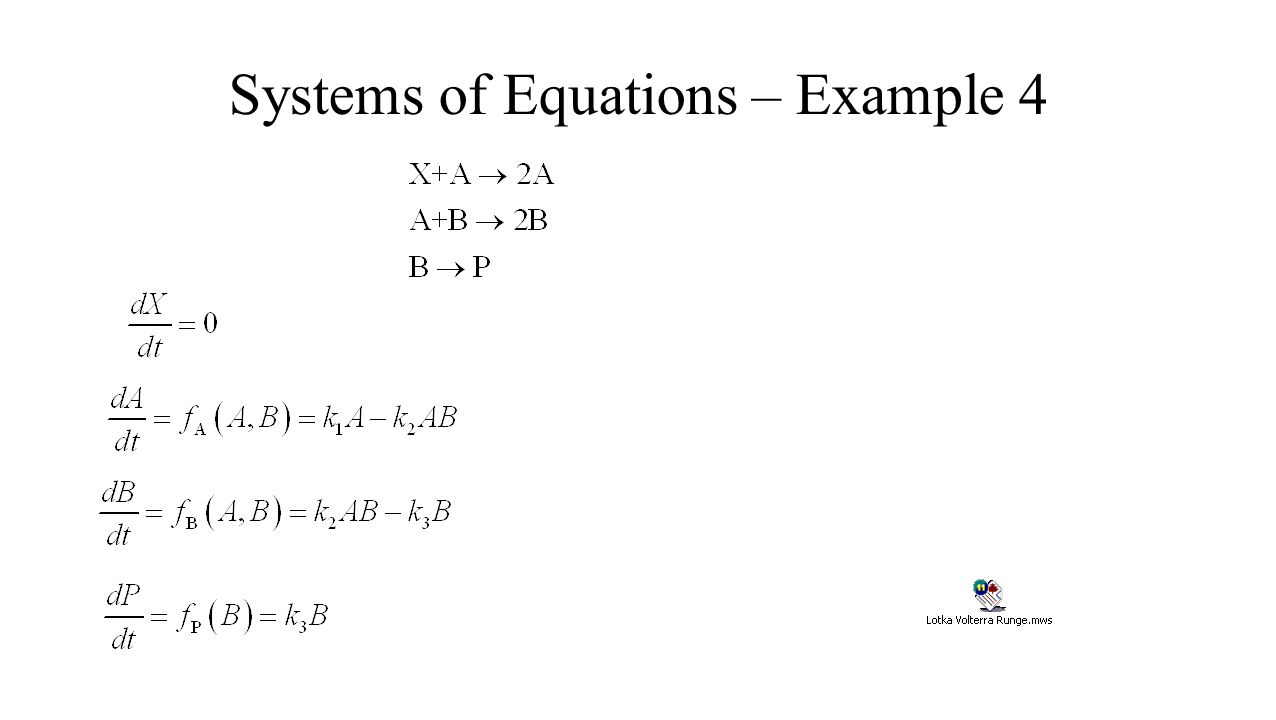 Systems of Equations – Example 4