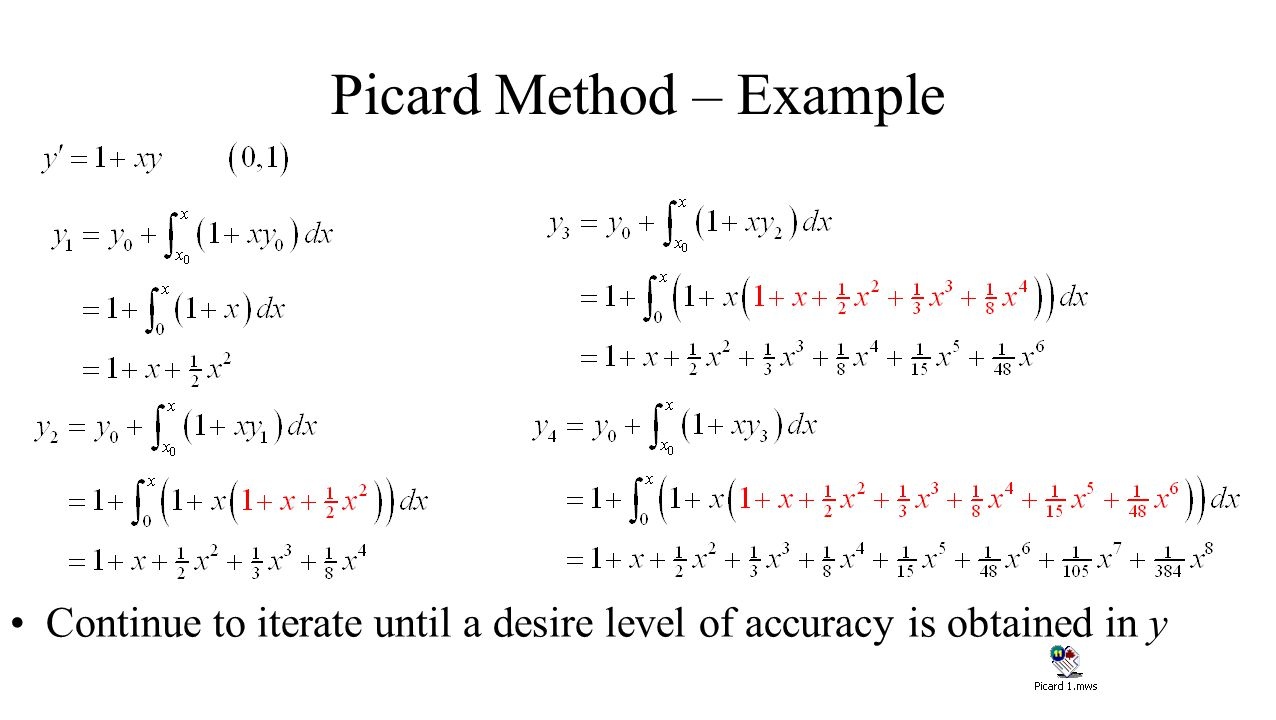 Picard Method – Example