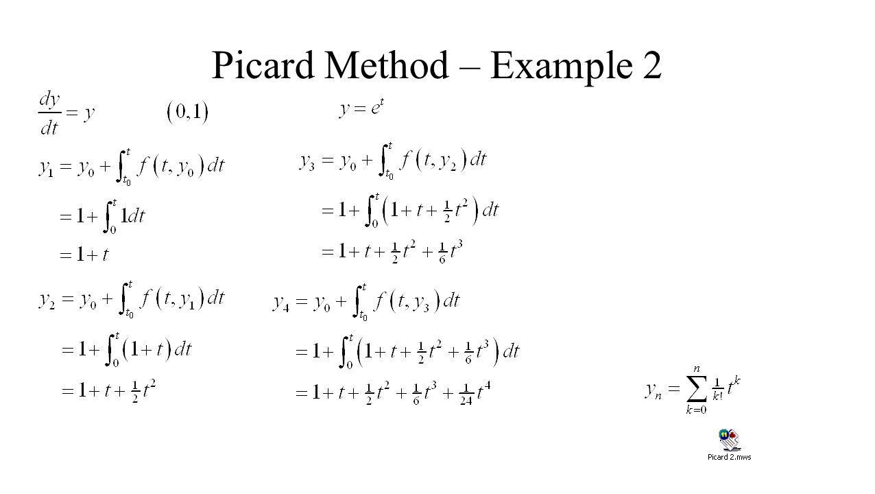 Picard Method – Example 2