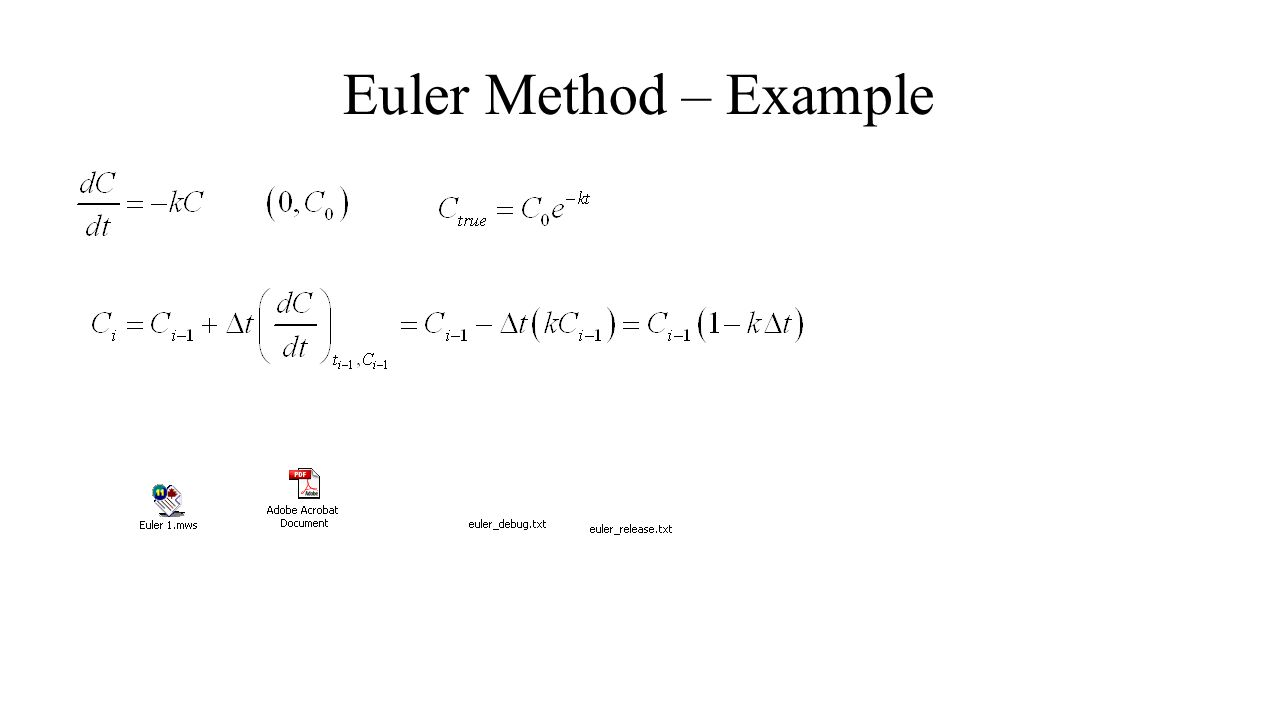Euler Method – Example