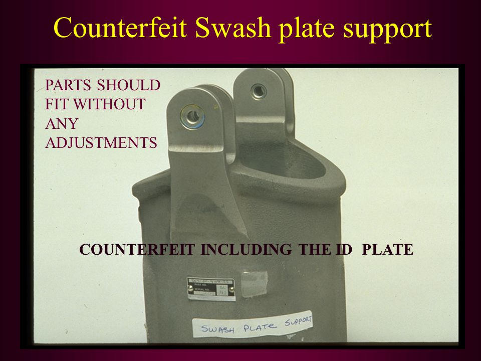Counterfeit Swash plate support