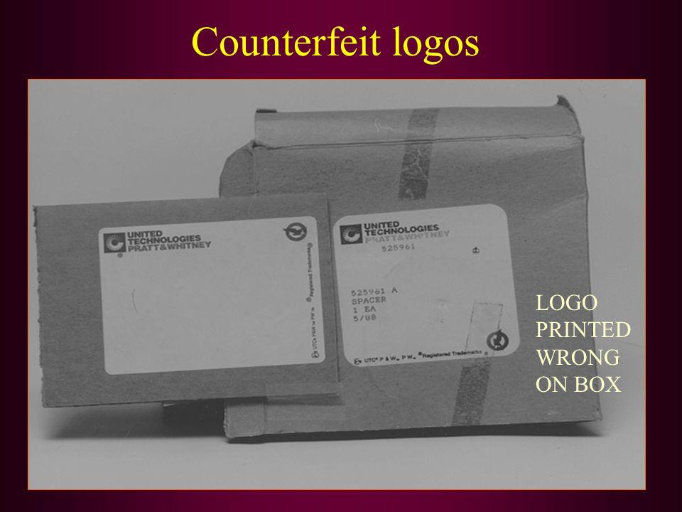 Counterfeit logos LOGO PRINTED WRONG ON BOX