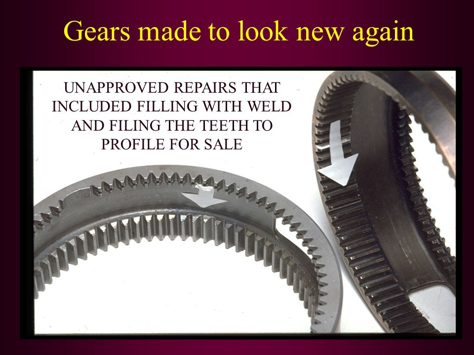 Gears made to look new again