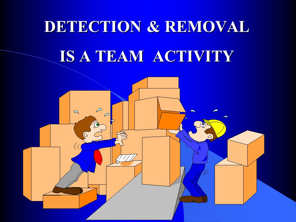 DETECTION & REMOVAL IS A TEAM ACTIVITY