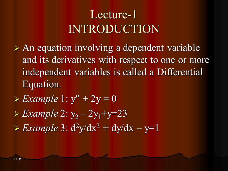 Lecture-1 INTRODUCTION