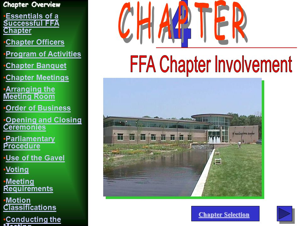FFA Chapter Involvement