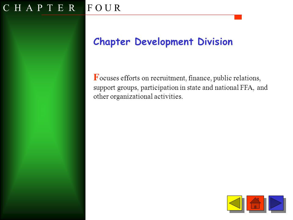 C H A P T E R F O U R Chapter Development Division.