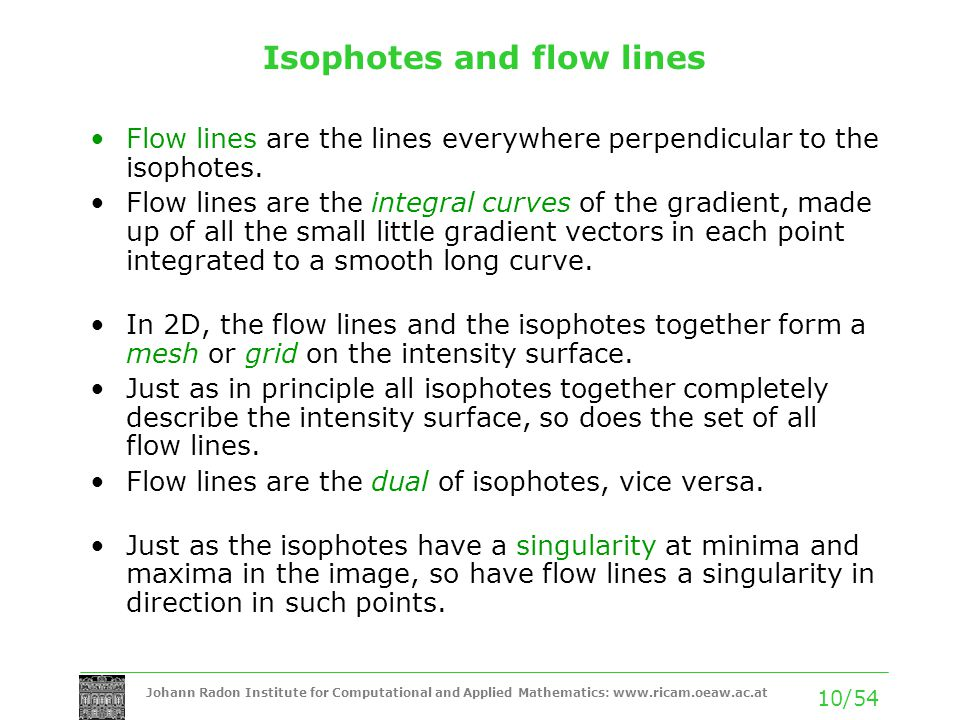 Isophotes and flow lines