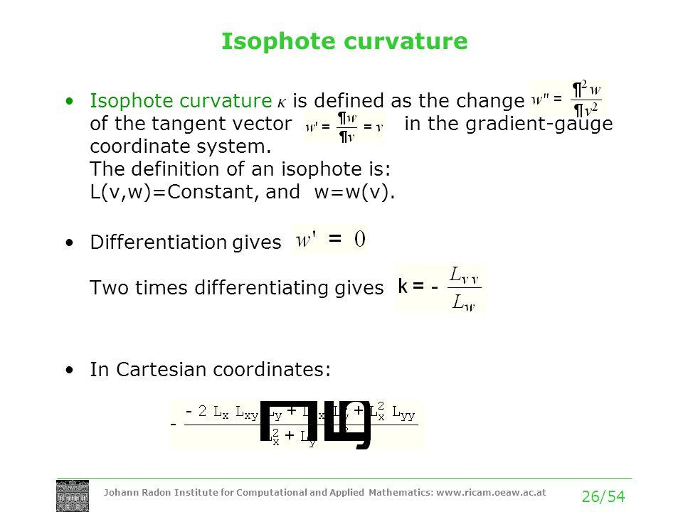 Isophote curvature