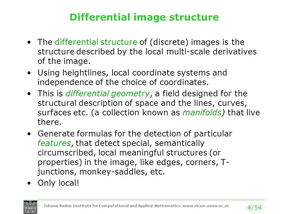 Differential image structure