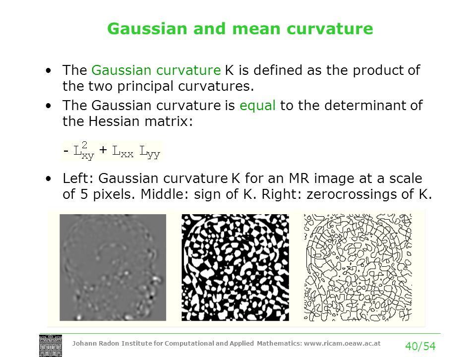 Gaussian and mean curvature