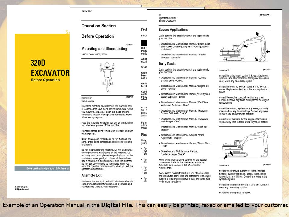 Example of an Operation Manual in the Digital File