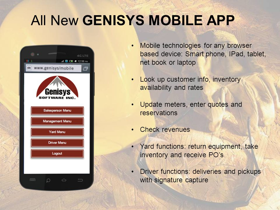 All New GENISYS MOBILE APP