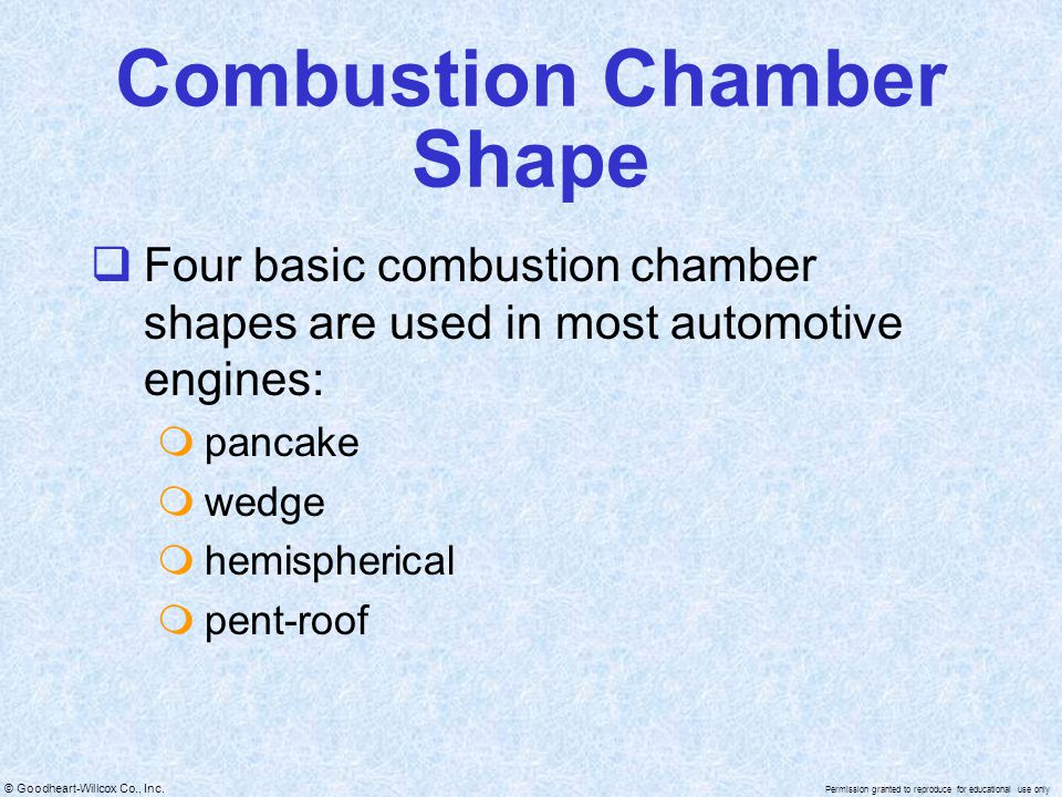 Combustion Chamber Shape