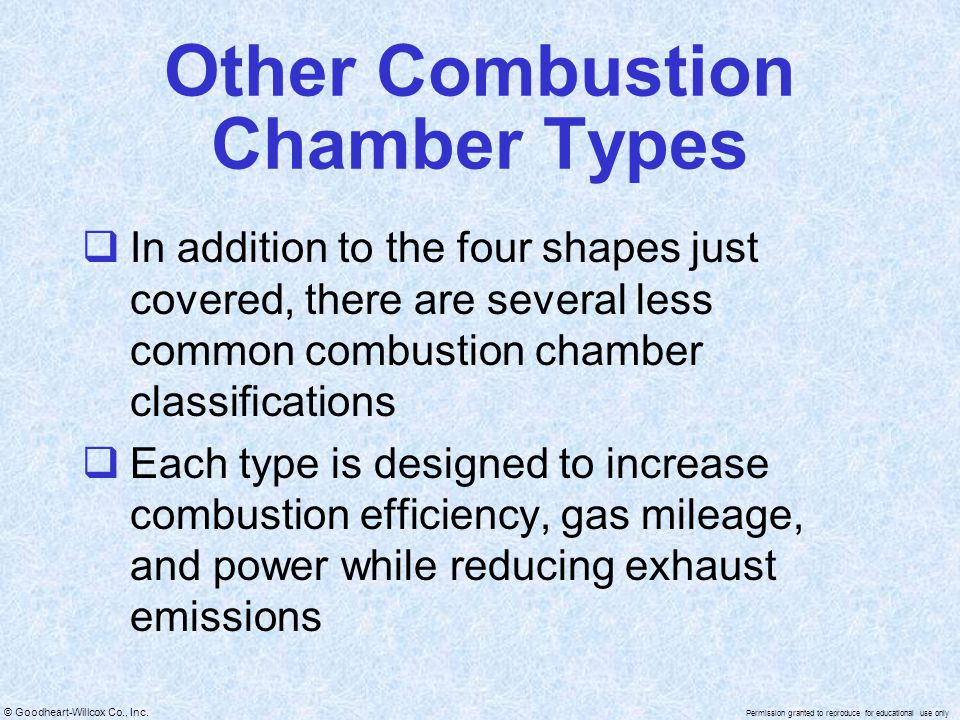Other Combustion Chamber Types
