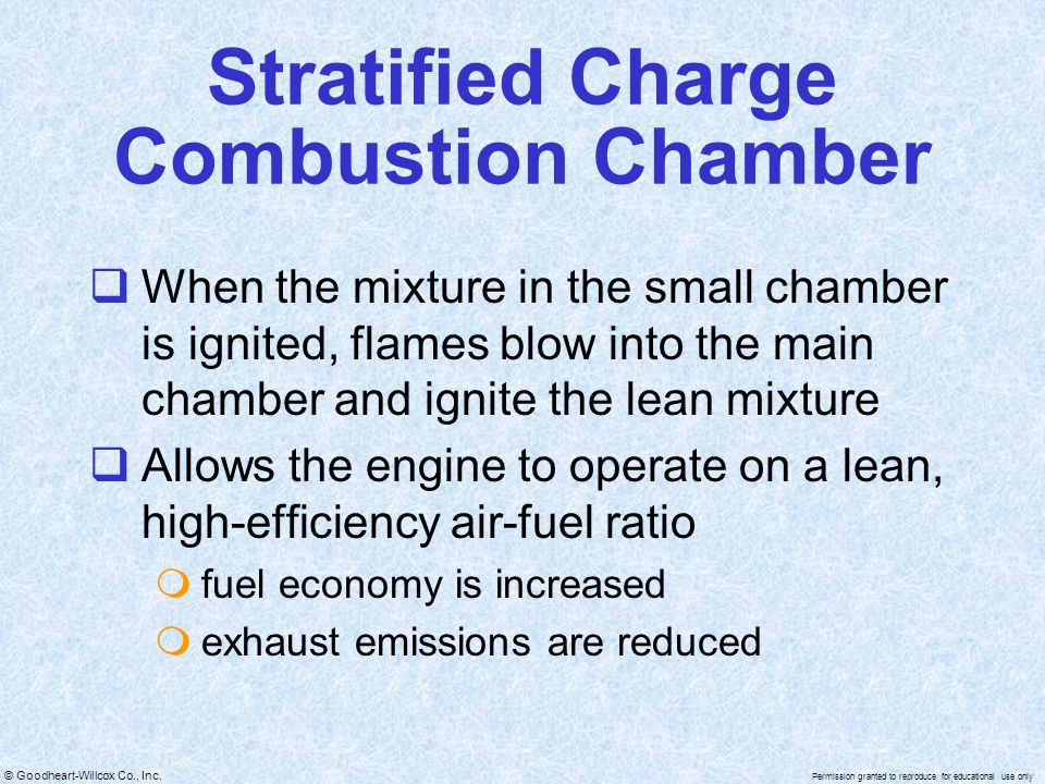 Stratified Charge Combustion Chamber