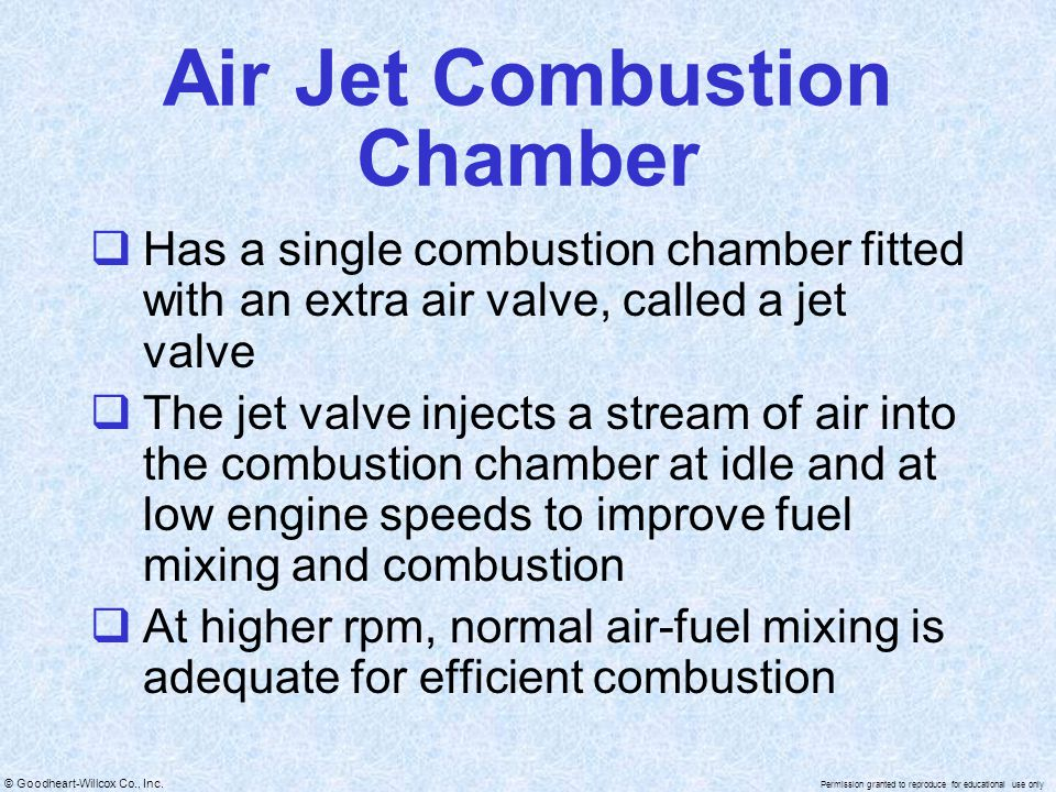 Air Jet Combustion Chamber