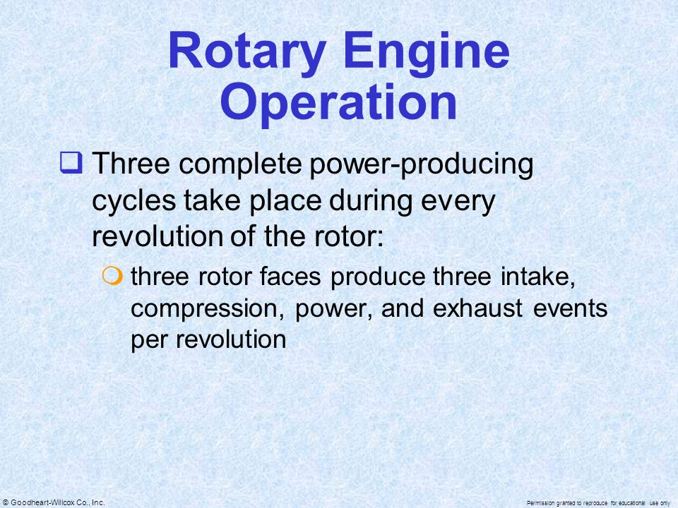 Rotary Engine Operation