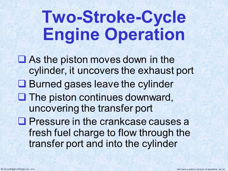 Two-Stroke-Cycle Engine Operation