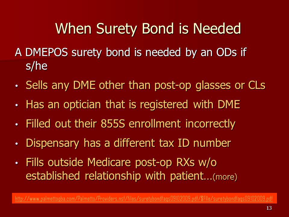 When Surety Bond is Needed