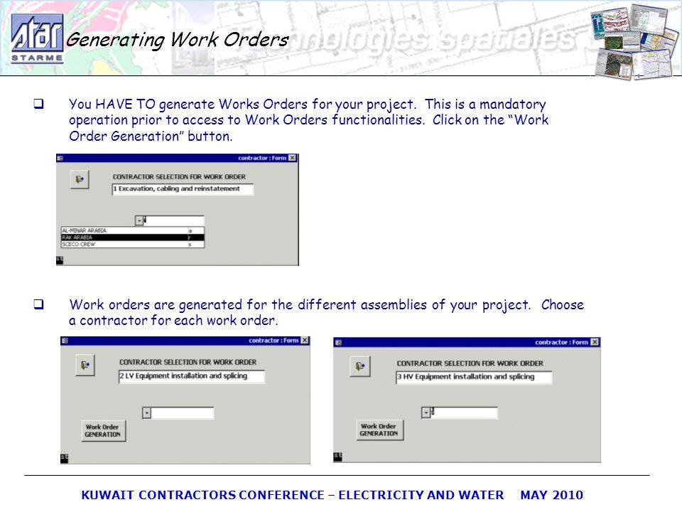 Generating Work Orders