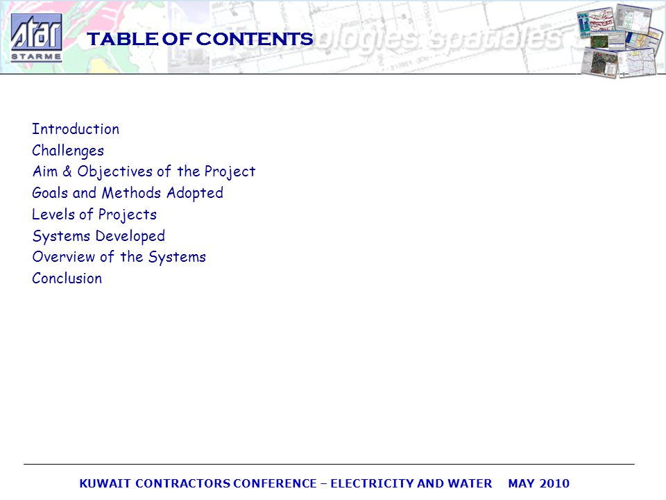 TABLE OF CONTENTS Introduction Challenges