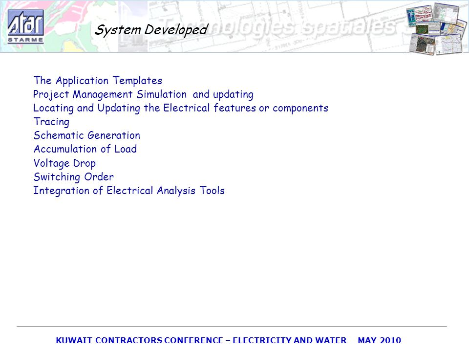 System Developed The Application Templates