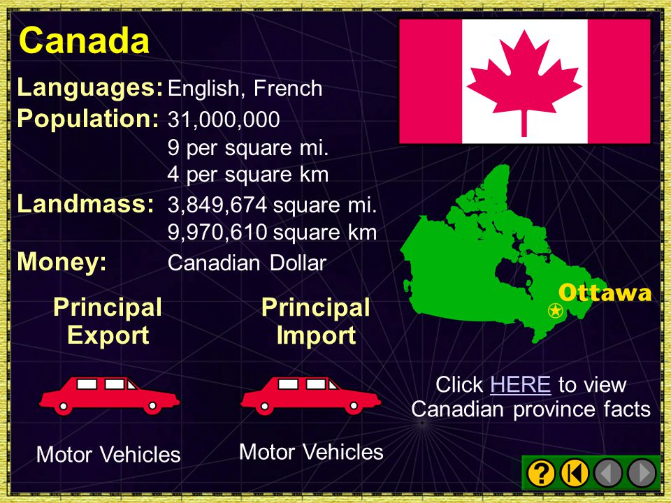 Click HERE to view Canadian province facts