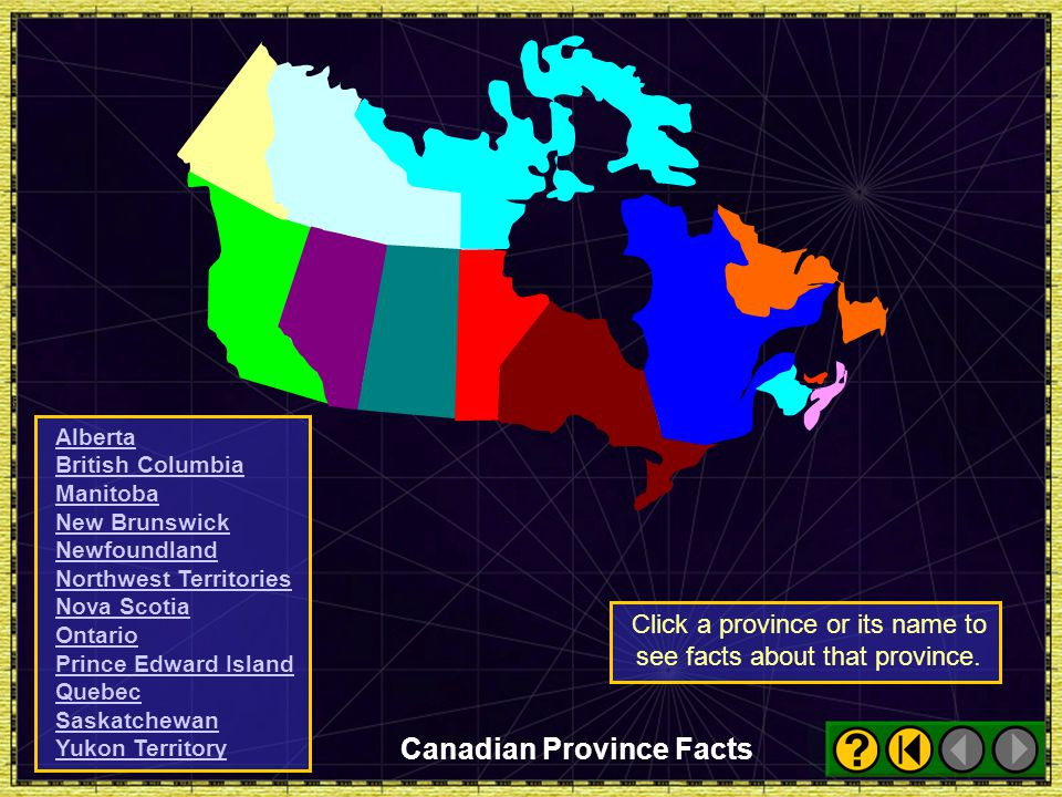 Click a province or its name to see facts about that province.