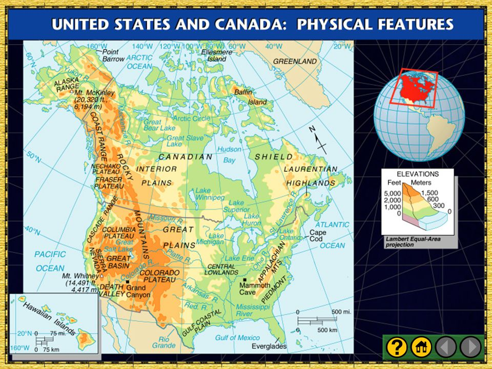 Presentation Plus Glencoe World Geography Ppt Download - Physical features of canada and the united states