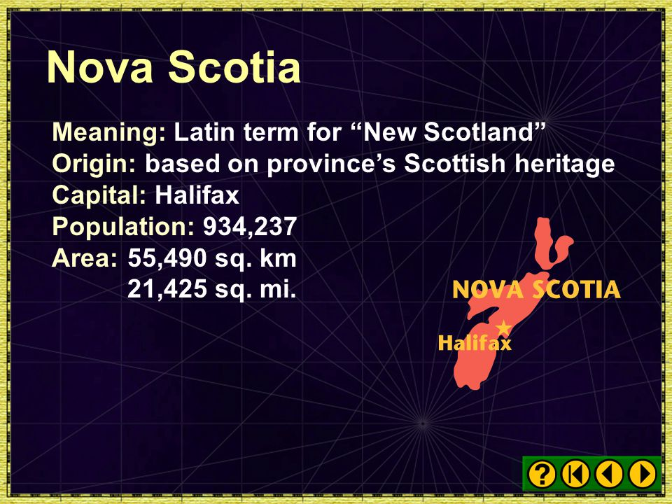 Nova Scotia Meaning: Latin term for New Scotland