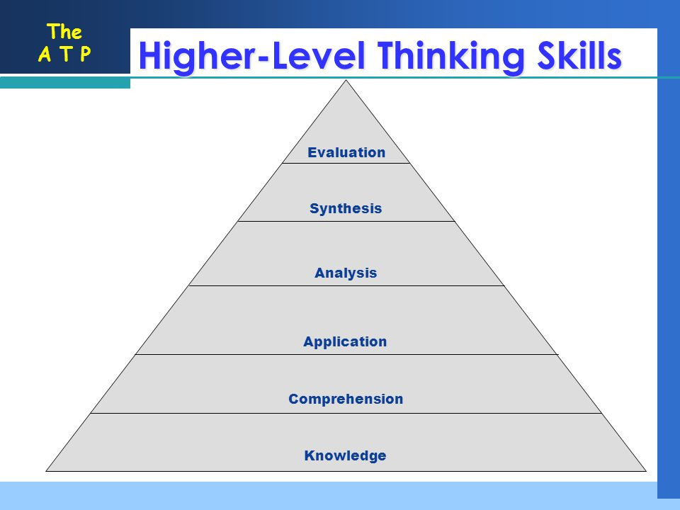Higher-Level Thinking Skills