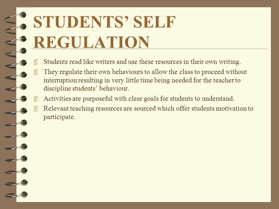 STUDENTS' SELF REGULATION